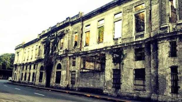 Ruins of Aduana (Customs House) in Intramuros, Manila