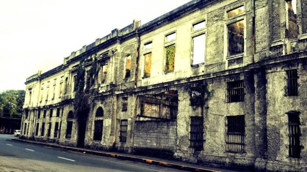 Ruins of Aduana (Customs House) in Intramuros, Manila