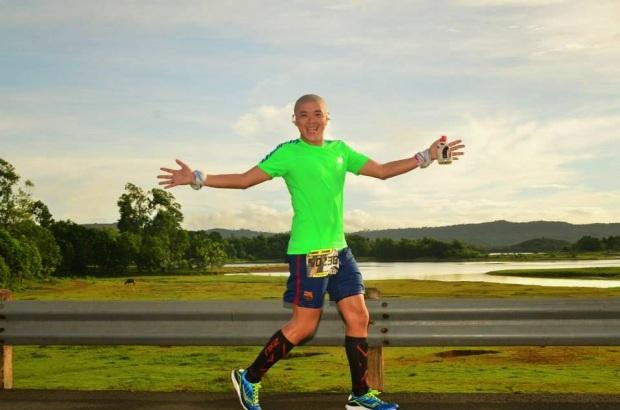 Bien Soberano at the 2013 Laguna to Quezon 50K Ultra-marathon (L2Q)